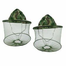 2pcs Mosquito Resistance Bug Net Mesh Head Face Protector Cap Sun Hat US Ship