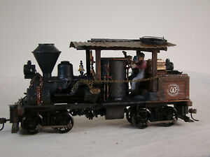 On30 Heisler Steam Logging Locomotive - DCC & Sound - custom weathered - lot a1