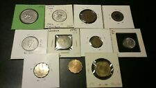LOT OF 11 INDIA COINS. 1944 1 ANNA , 1944 2 ANNAS,  1947 HALF RUPEE AND MORE