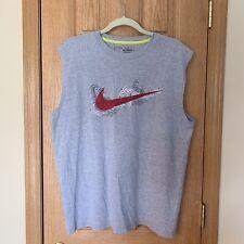 Nike Swim Mens Gray Nike XL Sleeveless Shirt w/ Big Logo Rare