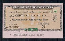 MINIASSEGNI: BANCO DI NAPOLI - ASS.PROV.COMM.TURISMO BRINDISI 1.3.76 - CIRCOLATO