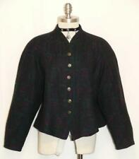 BLUE & PURPLE ~ BOILED WOOL German Women Sport Dress Suit JACKET Coat 48 12 14 L