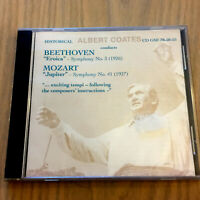 Albert Coates Conducts Beethoven Symphony 3, Mozart Symphony 41 CD NEW/SEALED