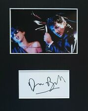Dave Ball 'Soft Cell' rare, hand signed mounted autograph.