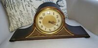 *ANTIQUE* PLYMOUTH Company Tambour Style Vintage Mantel Clock (No. 3646-S)