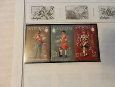 Lot of 3  Antiqua Stamps, British Soldiers, 12th Regiment, Drummer Boy
