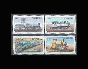 Namibia, Sc #774-77, MNH, 1995, Trains, Locomotives, Railroad, RFD-B