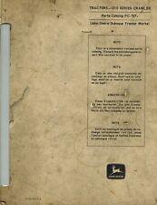John Deere 1010 Crawler Parts Manual Pc 727 Jd