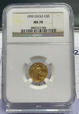 1995 Gold Eagle $5 NGC MS70  PERFECT GOLD COIN  FLAWLESS!