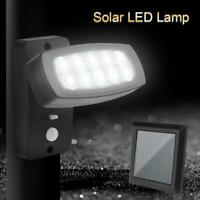 10 LED Solar Power PIR Motion Sensor Wall Light Outdoor Garden Lamp Waterproof