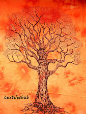 Dry Tree Indian Hanging Cotton Wall Tapestry Poster Orange Decor Throw