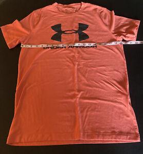 Under Armour Heat Gear Men's Loose SS Activewear T Shirt Salmon Tone Sz S