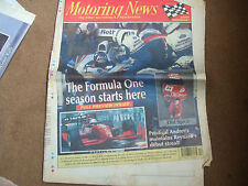 Motoring News 23 March 1994  Bertrand Gachot West Cork Rally Jos Verstappen