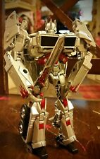 CUSTOM TRANSFORMERS : Custom Painted Voyager Class Silver Optimus Prime with...