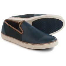 Van Heusen New Mens Shoes Slip On Cup Full Blue/White /Brown lining Size 8