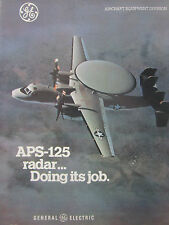 1/1977 PUB GENERAL ELECTRIC APS-125 RADAR GRUMMAN HAWKEYE US NAVY ORIGINAL AD