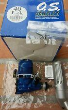 OS MAX 40 LA BLUE NITRO RC AIRPLANE ENGINE Made in Japan