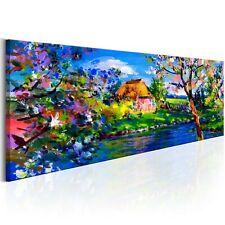 100% Handgemalt Leinwand Bilder Gemälde Wandbilder 120x40 c-B-0273-b-a_MK
