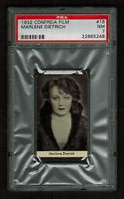 PSA 7 MARLENE DIETRICH 1932 Confreia Cigarette Card #18 HIGHEST EVER GRADED