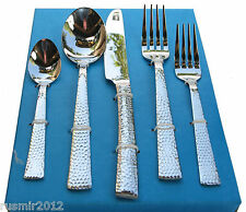 Hammered 20-Pc. Flatware Set Service for 4 Stainless 18/10 Premium Silverware