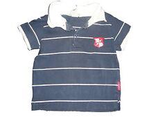 H & M tolles T-Shirt Gr. 74 blau-weiß gestreift mit weißem Polokragen !!