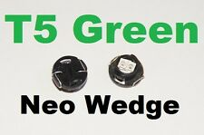 4 X Green T5 Neo Wedge LED 79607-SHJ-S01 Twist lock Cluster Switch Dash Gauge