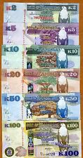 SET, Zambia, 2;5;10;20;50;100 Kwacha, 2012 (2013), P-New, UNC > New Currency