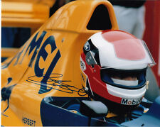 JOHNNY HERBERT mano firmato CAMEL TEAM LOTUS FOTO 10x8.