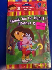 Dora the Explorer Nick Jr. TV Kids Birthday Party Thank You Notes w/Envelopes
