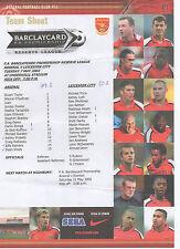 Arsenal Teams A-B Football Reserve Fixture Programmes