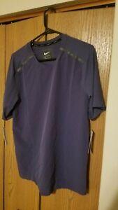 Nike Tech Pack Short Sleeve Running Top Shirt Men's BV5713-557 Size M