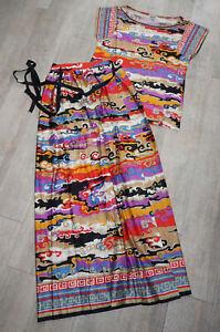 2tlg Kleid 38/40 Jersey-Stretch Wickelrock+Shirt griechisch orientalisch BLEYLE