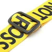 """Guitar Strap Yellow """"POLICE LINE DO NOT Cross"""" I5G6"""