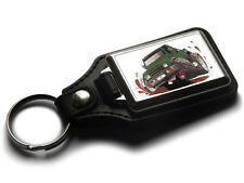 Koolart Cartoon Car Suzuki Santana Leather and Chrome Keyring