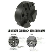 Universal Gunsmith Bench Block Handgun Pistol M1911 10/ 22s Reassemble Black