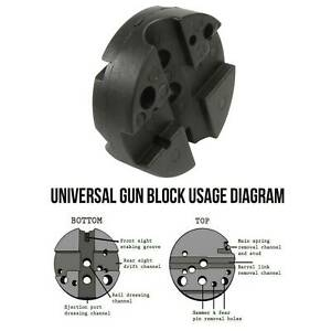 Universal Gunsmith Bench Block Handgun Pistol M1911 10/ 22s Reassemble Black