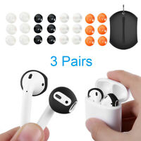 3 Pairs Silicone Earbuds Cover Ultrathin Protective Caps For Apple Airpods Hot