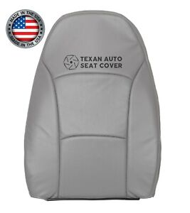 2004 to 2008 Ford E150 Econoline Van Driver Lean Back Perforated Seat Cover Gray