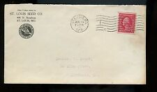 US Illustrated Advertising Cover (St Louis Seed Co) 1914 St Louis, Missouri