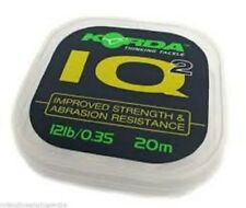KORDA IQ2 FLUOROCARBON HOOKLINK 20M ALL SIZES NEW CARP FISHING LINE