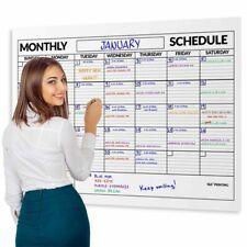 Monthly Calendar Office Planner Dry Erase Board Whiteboard Erasable Room Jumbo