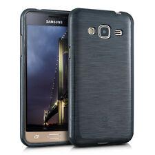 kwmobile TPU Schutz Hülle für Samsung Galaxy J3 (2016) DUOS Brushed Aluminium
