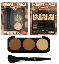 W7 Shape Your Face Contour Kit Palette with Angled Brush Bronzer Contour Make Up