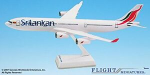 Sri Lankan (99-Cur)Airbus A340-300 Airplane Miniature Model Plastic Snap Fit