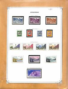 [OP3012] Andorra lot of stamps on 12 pages