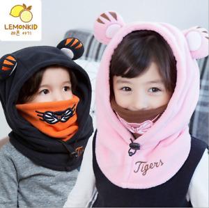 Kid Boys Girls Children Balaclava Face Cover Winter Outdoor Ski Mask Hat Scarf