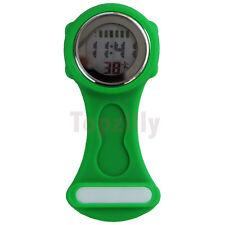 2019 Digital Multi Function Green Nurses/Brooch/Tunic/Fob/Pocket/ Silicone Watch