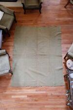 Vintage Military Army Green Wool Blanket OLIVE