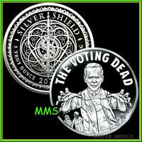 2021 The Voting Dead Proof Silver Shield MicroMintage Biden Vote PRESALE ***