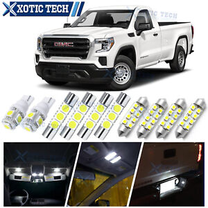 White LED Interior Lights Package Kit for GMC Sierra 1500 2500 3500 2007-2013